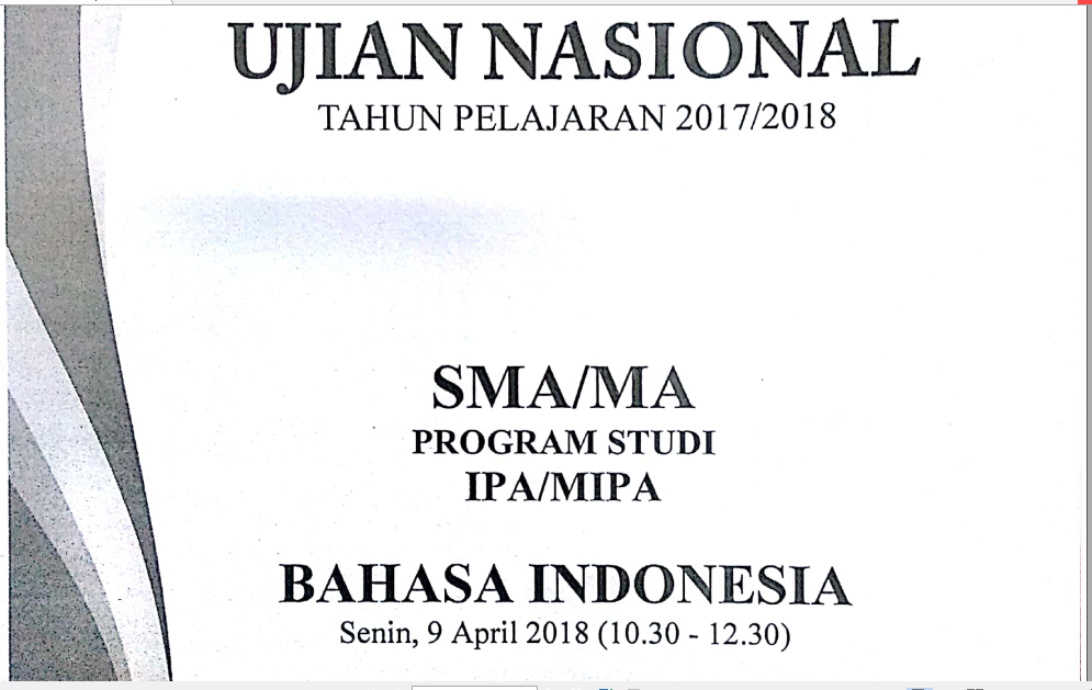 Pembahasan Soal Un Bahasa Indonesia Sma Ma Tahun Pelajaran 2017 2018 Nomor 9 Menentukan Nilai Dalam Cerpen Zuhri Indonesia