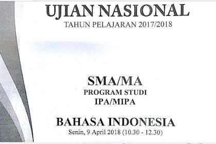 Contoh Soal Un Bahasa Indonesia Sma
