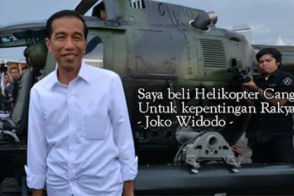 Punya Heli Canggih, Jokowi Tak Bisa Temui Umat Islam Alasannya Seluruh Jalan tak Memungkinkan ke Istana, Emang di Langit Juga Ada Demo?