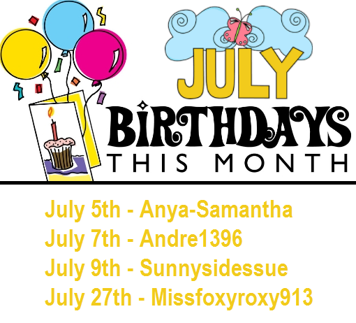 July Birthday List