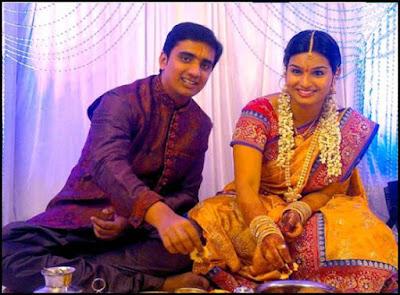 Singer Krishna Chaitanya and Anchor Madhu Mrudula Engagement6