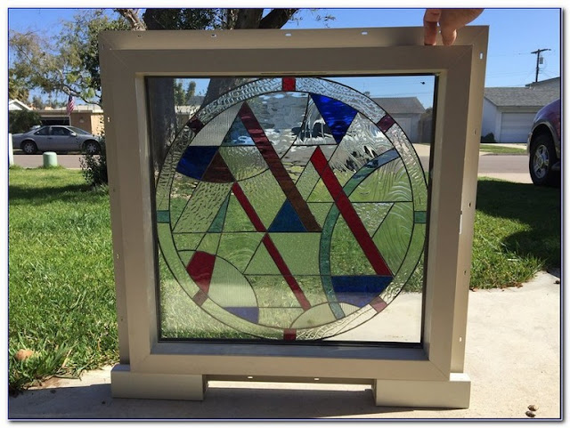 Framed Stained GLASS WINDOW Panels design
