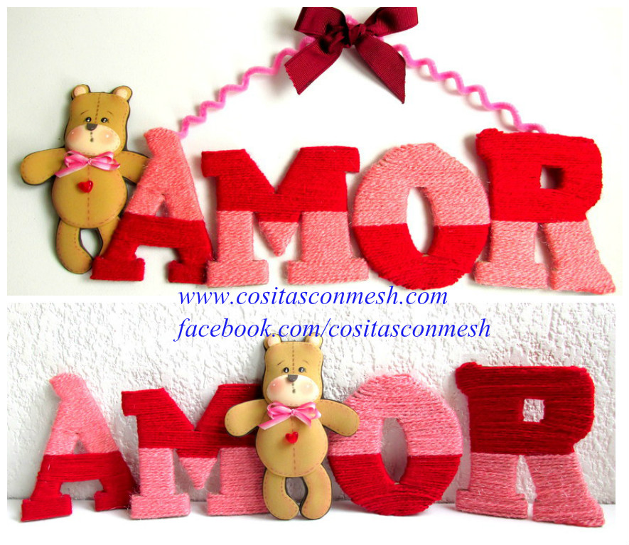 Como Hacer Letreros De Amor Para San Valentin Cositasconmesh