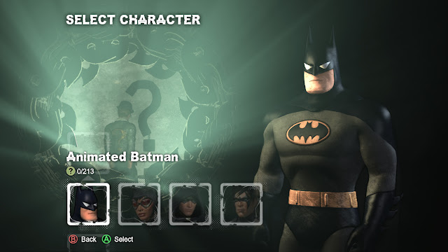 Batman Arkham City Select Character Animated Batman