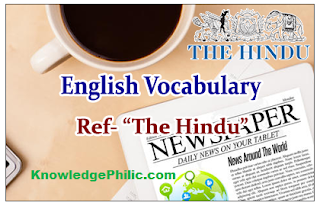 The Hindu Vocabulary Compilation from November 2015 to April 2017 in PDF [Download Free]