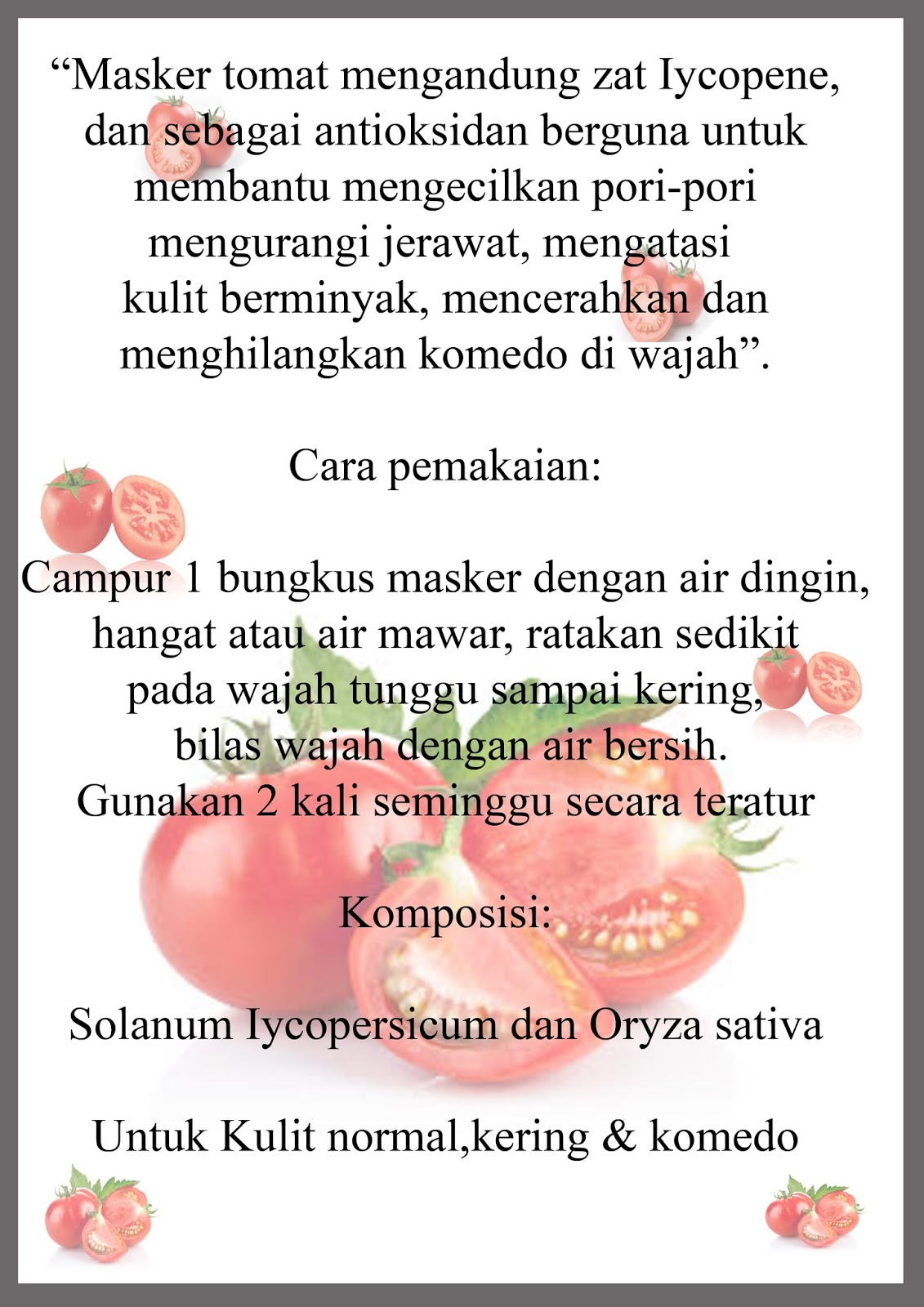 Mengungkap Rahasia Manfaat Pada Buah Tomat Untuk Kulit Wajah Pkh Indramayu