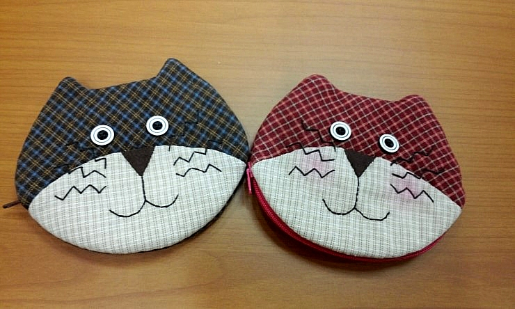 Coin Purse with Zipper Sewing Pattern. DIY tutorial in pictures.