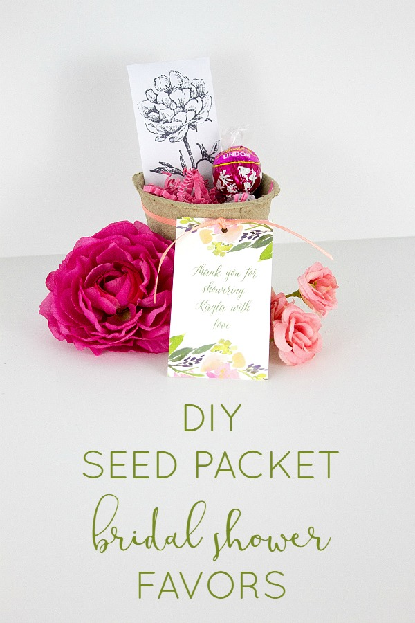 Seed packet bridal shower favors