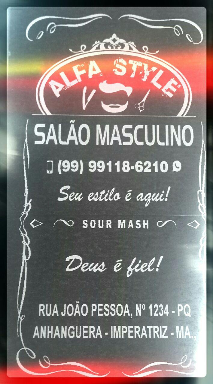 """ALFA STYLE"" SALÃO MASCULINO"