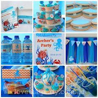 under the Sea Ocean Birthday Printable Party Decoration Kit