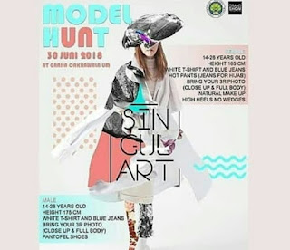 audisi model hunt 2018 di graha cakrawala universitas negeri malang