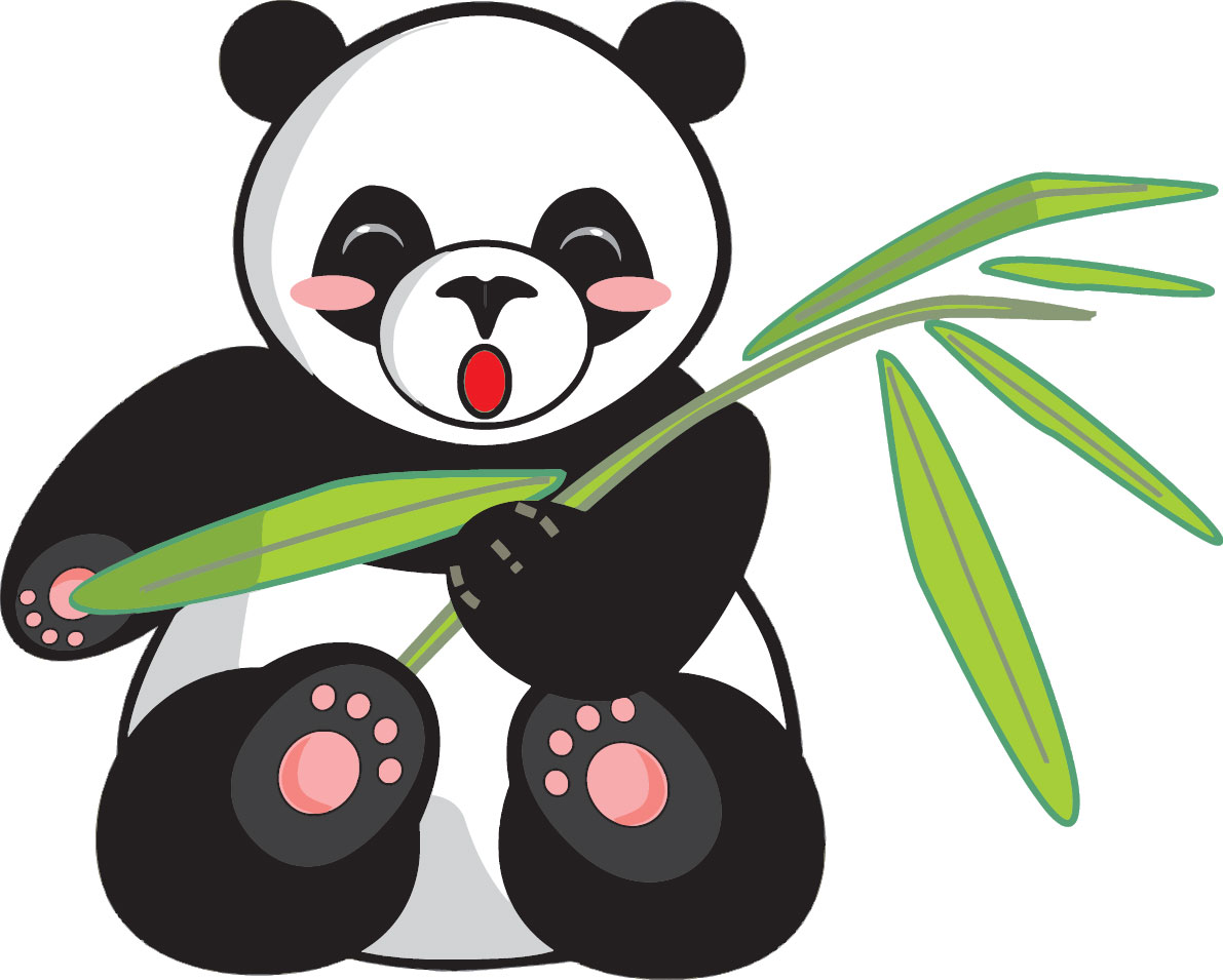 panda vector free download vectorkh