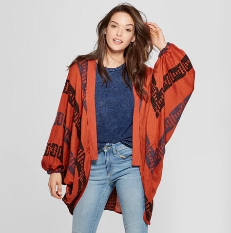 Target Universal Thread woven patterned cocoon cardigan
