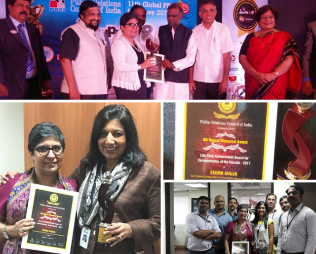 Seema Ahuja of Biocon, Conferred with Prestigious 'ND Rajpal Memorial Award' for 'The Communicator of the Decade – 2017'