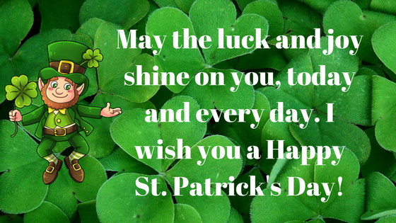 St Patrick's day best wishes 2018