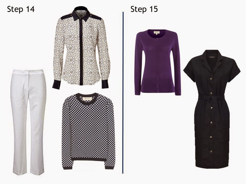 Steps 14 and 15 Starting From Scratch Wardrobe summer navy and white