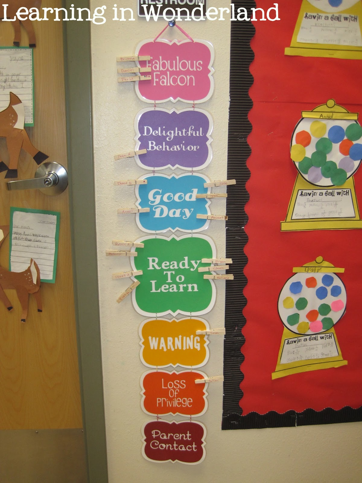 Classroom Ideas Charts : Classroom management ideas learning in wonderland