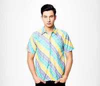 Alfamind Kemeja Batik Jening Short Sleeve Green Yellow - Slim Fit ANDHIMIND