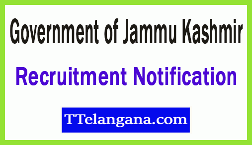 Government of Jammu Kashmir Recruitment Notification
