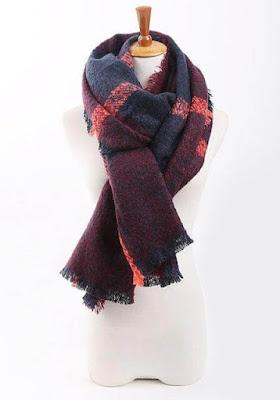 Plaid Knit Shawl | Lookbook Store
