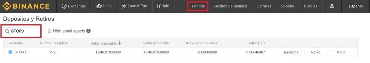 Enviar desde Exchange STORJ a Wallet Personal Tutorial Español