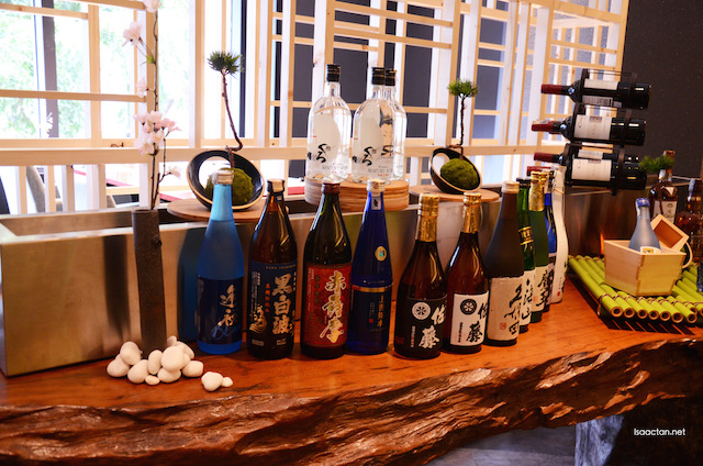 Choose from a selection of Japanese liquor and alcohol