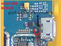 Jalur USB Charger Samsung 8520 ( Trick Jumper )