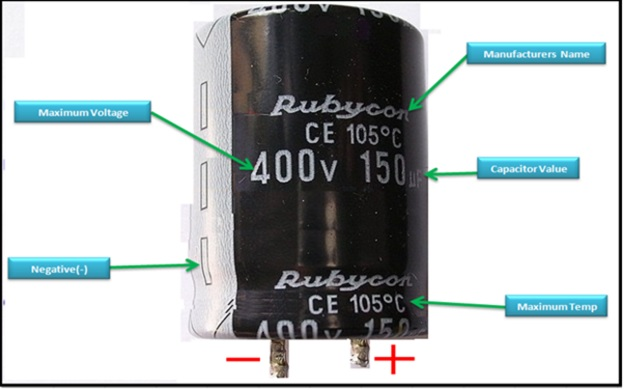 electronics repair made easy: Understanding markings on capacitor body