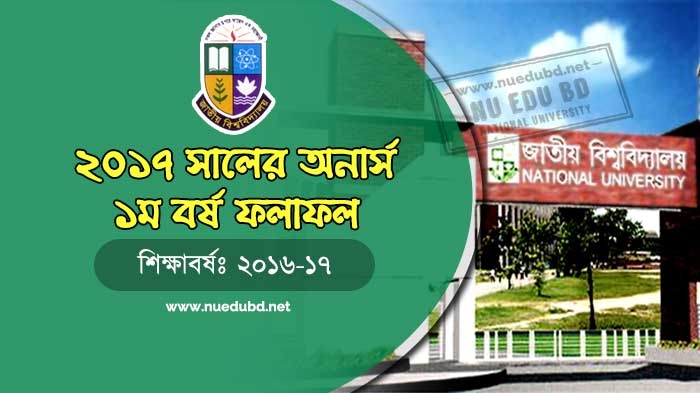 NU Honours 1st Year Result 2018