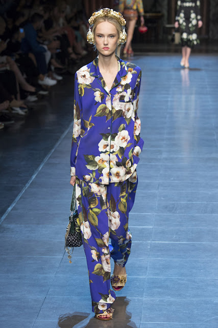 Pijama de calle Dolce & Gabanna SS 2016