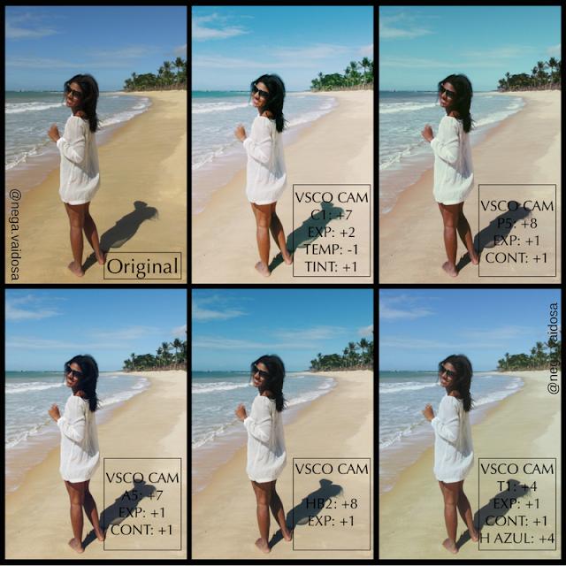 Todos os filtros vsco cam apresentados no blog editados em uma foto minha