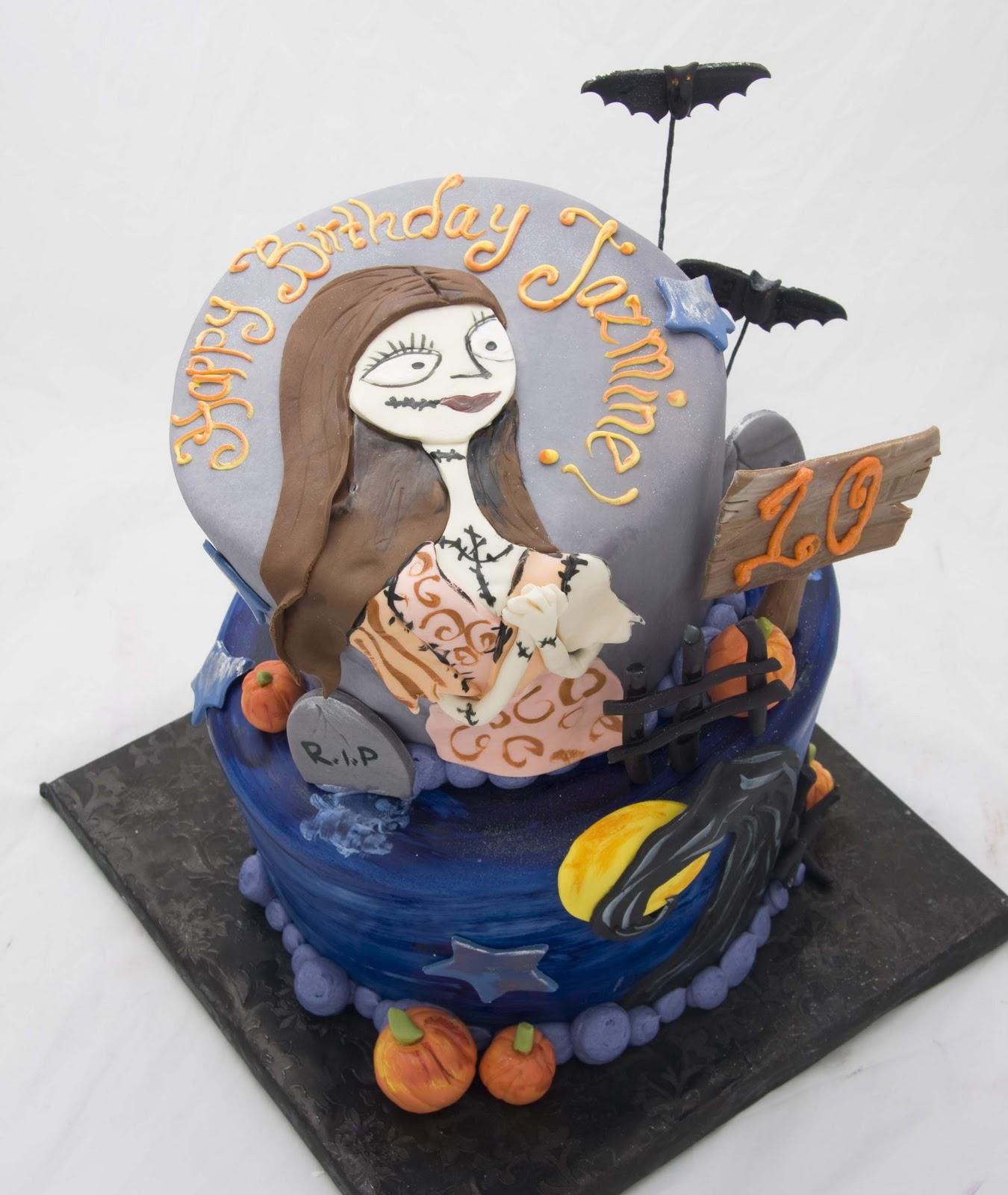 The Crimson Cake Blog Sally Nightmare Before Christmas Cake