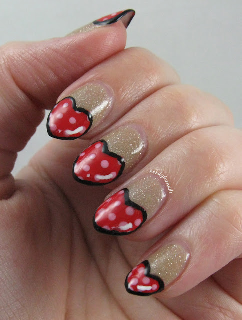 Valentine's Day Nails- Heart Shaped, Cartoon Style