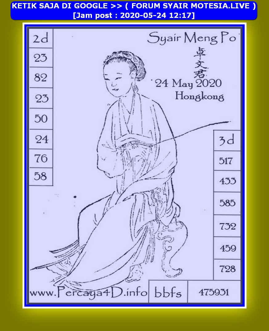 Kode syair Hongkong Minggu 24 Mei 2020 134