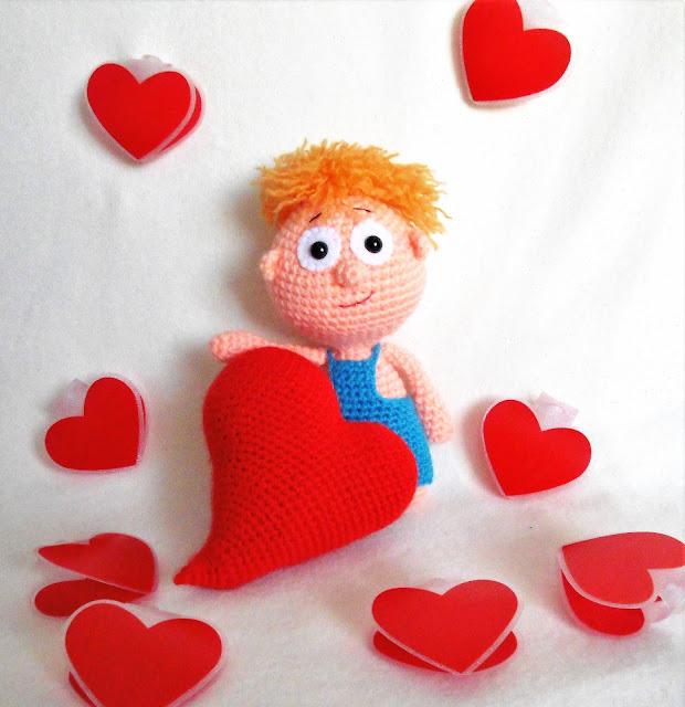 -amigurumi -heart -valentinesday -crochet -friendsday -sõbrapäev -heegeldamine -punane -süda