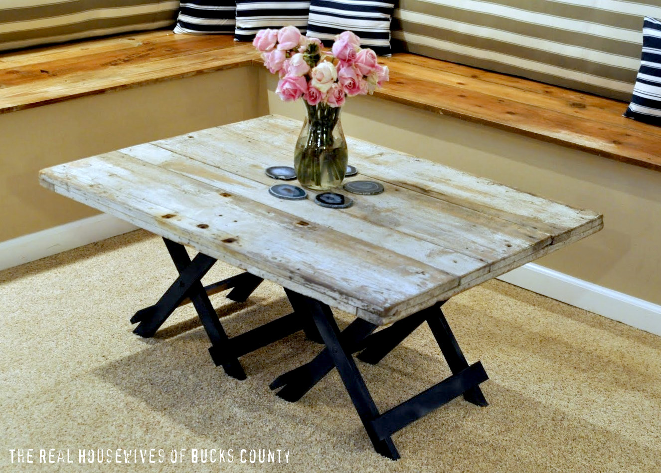 Rustic Beach Coffee Table Diy Barn Meets Beach Coffee Table East Coast Creative Blog
