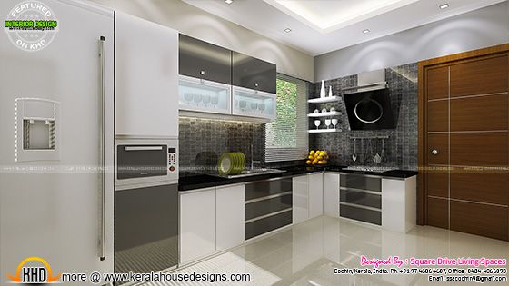 Kitchen interior view, Kerala