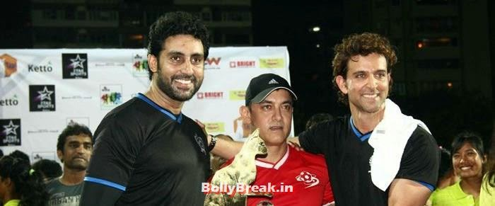 Abhishek Bachchan, Aamir Khan, Hrithik Roshan, Bollywood Celebs play football match for Aamir khan's daughter Ira Khan