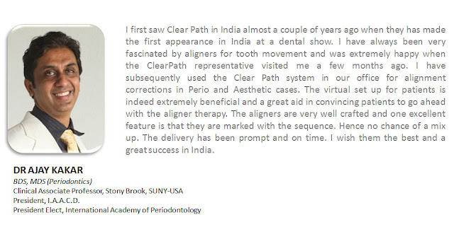 dr. ajay kakar about clearpath aligner without braces