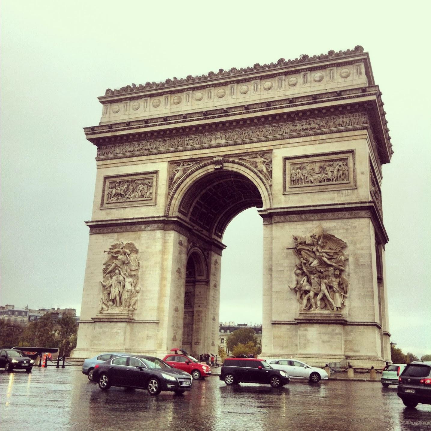 Arco del Triunfo en Paris Francia
