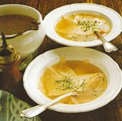 Bavariška sriuba su skryliais