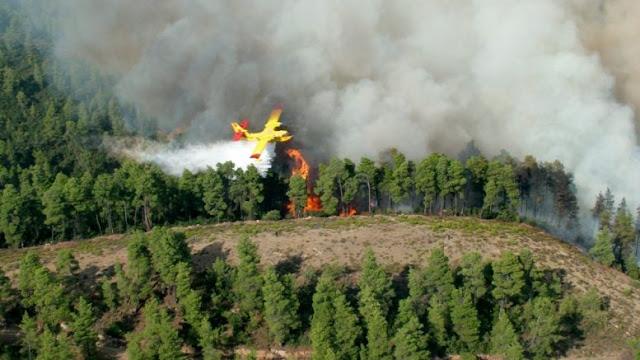Μεγάλη φωτιά σε εξέλιξη στη Σκόπελο - Πυρκαγιά σε χαρτοποιία στο Βέλο Κορινθίας