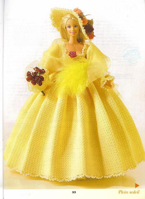 Robe Barbie au crochet