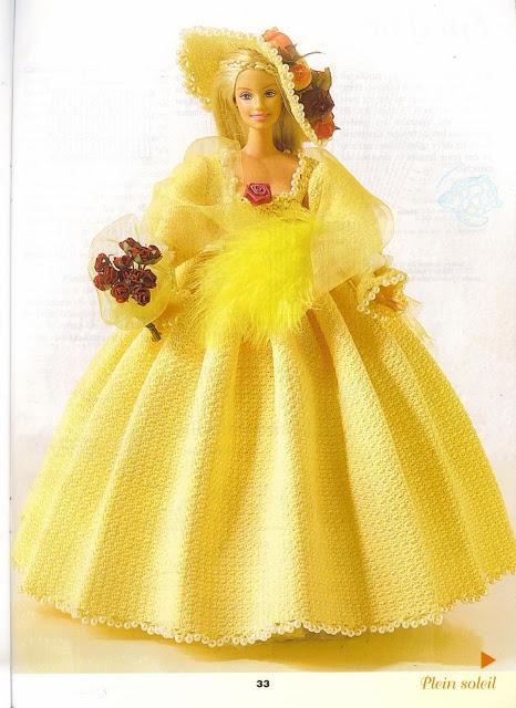 Robe Barbie au crochet