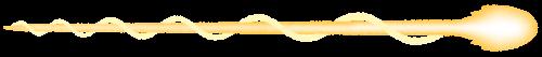 ビームのイラスト(黄色・うずまき)