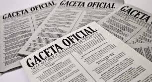 Léase SUMARIO de Gaceta oficial Nº 41308 27 de diciembre de 2017