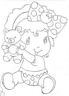 desenho da moranguinho para pintar em fraldas