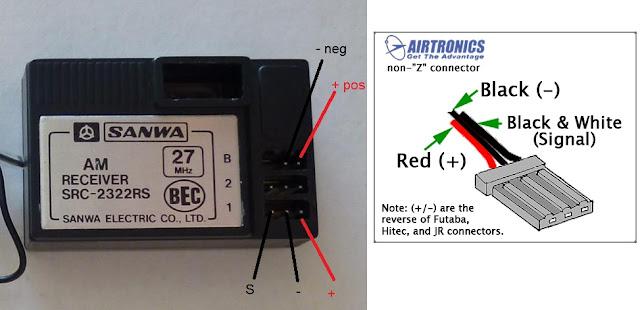 Vintage SRC-2322RS receiver wiring