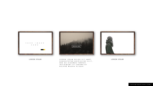 Realistic Wooden Photo Frame Mockup for PowerPoint Type D