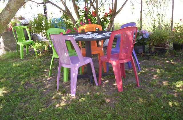 De todo un poco renovando las sillas de pl stico - Limpiar pintura plastica ...